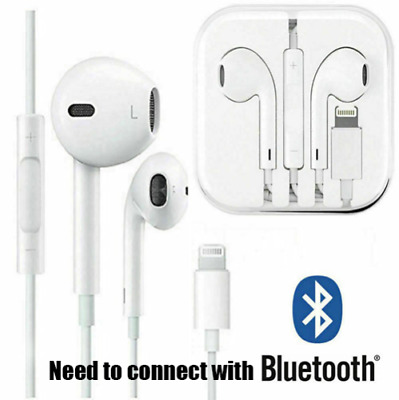 New Wired Bluetooth Earphones Earbuds Headphones For Iphone 8 7 Plus X Xr Xs Max Ebay