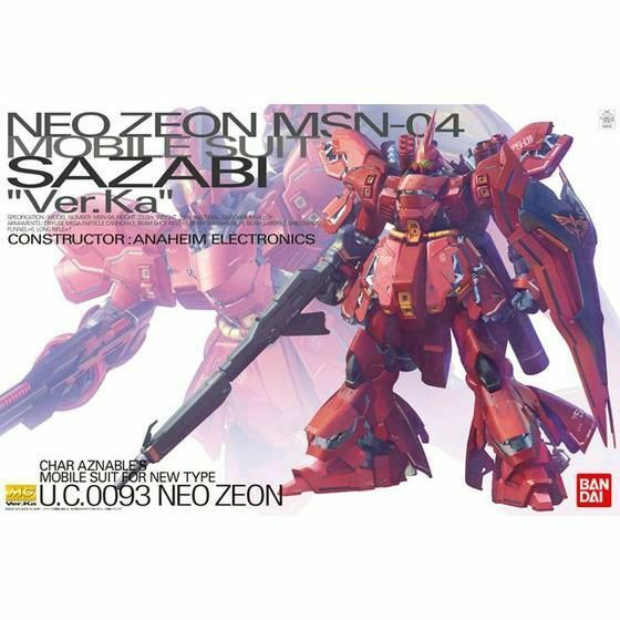 Bandai MG 1  100 Msn -04 Sazabi Ver Ka Maqueta de Pl livrem 65533; (sdrif5533;stico en Kit Char's Mostrador)