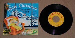 ELLEN-JANE-CAROL-White-Christmas-7-034-amp-PICTURE-SLEEVE-holiday-on-Cricket-kiddie