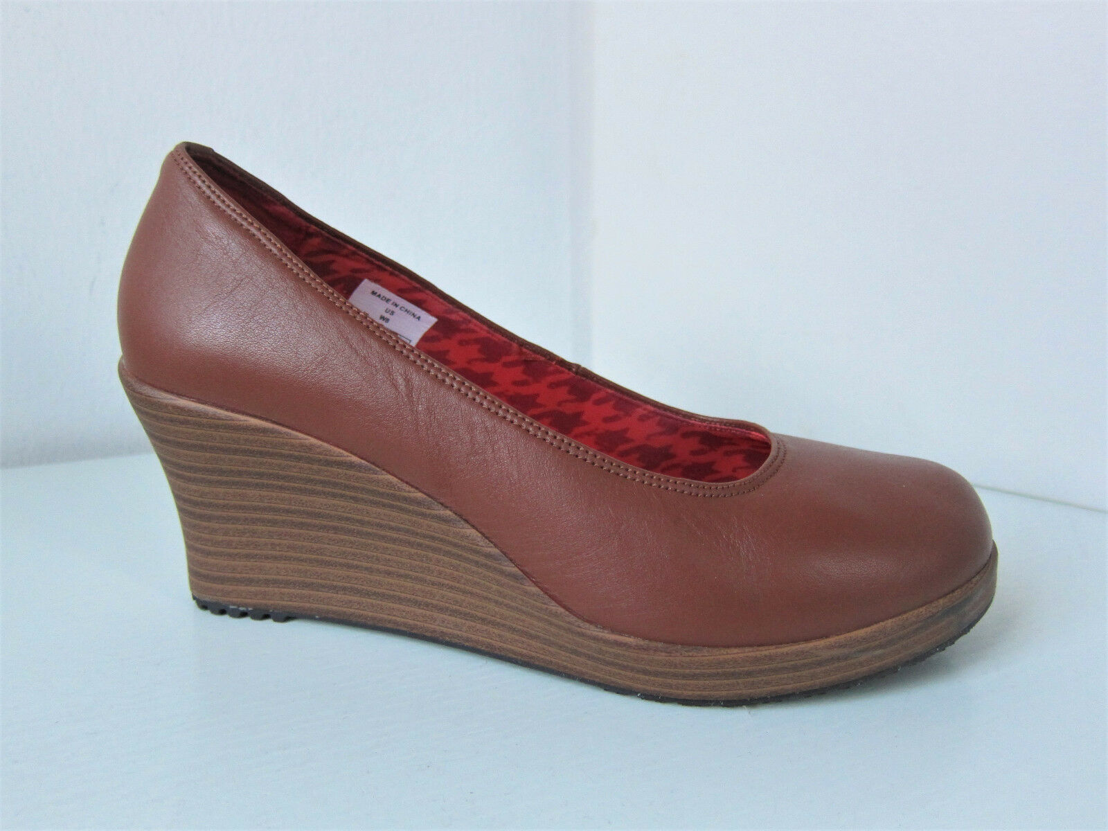 Crocs a-Leigh closed Toe wedge W 8 38 39 Camel canela Walnut de salón con cuña