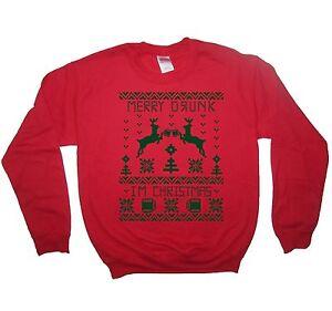 image is loading sweatshirt merry drunk i 039 m christmas shirt - Merry Drunk Im Christmas