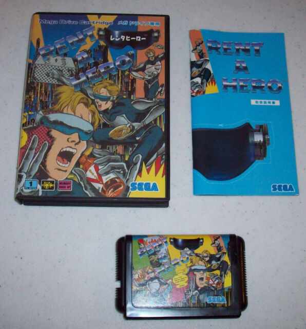 Rent A Hero Rent-a-Hero Sega Genesis Japan Mega Drive 1991 complete in box CIB