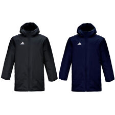 adidas COREF Men/'s Stadium Padded Blue Winter Jacket Waterproof Hooded Zip New