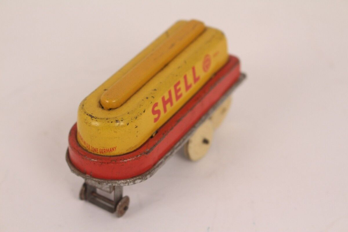 Göso Pendant Trailer SHELL 3000 L 430-14 Tin Toy Us Zone Tin Toy Sheet Metal