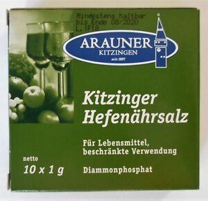 Arauner Kitzinger Hefenährsalz Pour Production De Vin 10x1g-g 10x1g Fr-fr Afficher Le Titre D'origine