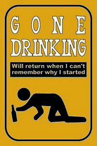 Gone-Drinking-Will-Return-Panneau-Metallique-Plaque-Voute-en-Etain-20-X-30-CM