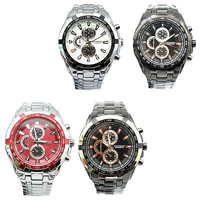 New Fashion Mens Curren Luxury Sport Stainless Steel Wrist Watch Water Resistant