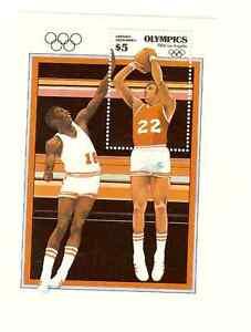 GRENADA-GRENADINES-1984-OLYMPICS-SOUVENIR-SHEET-amp-SET-SCOTT-039-s-570-574-MNH