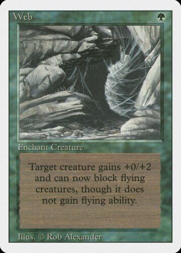 Web Revised NM Green Rare MAGIC THE GATHERING MTG CARD ABUGames