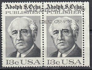 Estados unidos sello con sello par 13c adolph s. ochs Publisher borde derecho/p78