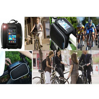 Stock ROSWHEEL Bike Bicycle Frame Pannier Front Tube Bag for Mobile Cell Phone