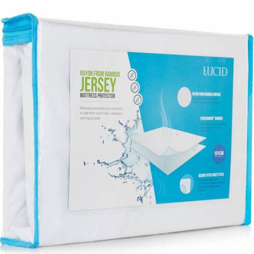 Deep Pocket Mattress Protector Dust Mite Water Proof Bamboo Jersey Bedding Cover