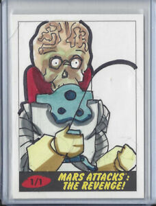 2017-Topps-Mars-Attacks-The-Revenge-1-1-Sketch-Card-by-Tod-Smith-Martian