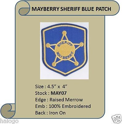 ANDY GRIFFITH MAYBERRY SHERIFF BLUE PATCH  - MAY07