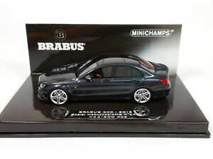 1-43-Minichamps-Brabus-600-AUF-Basis-Mercedes-Benz-AMG-C-63-S-2015-Black-LE-300