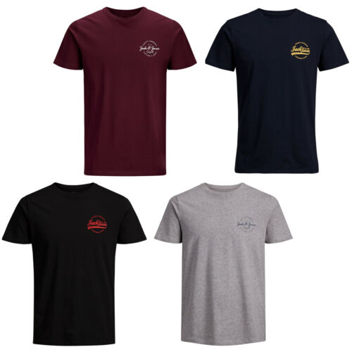 JACK /& Jones Originali T-shirt jorrafsmen casual da uomo logo sul petto cotone TEE