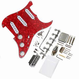 Pickup-Loaded-Pickguard-Bridge-Knobs-Tuning-Peg-For-Fender-Strat-Electric-Guitar
