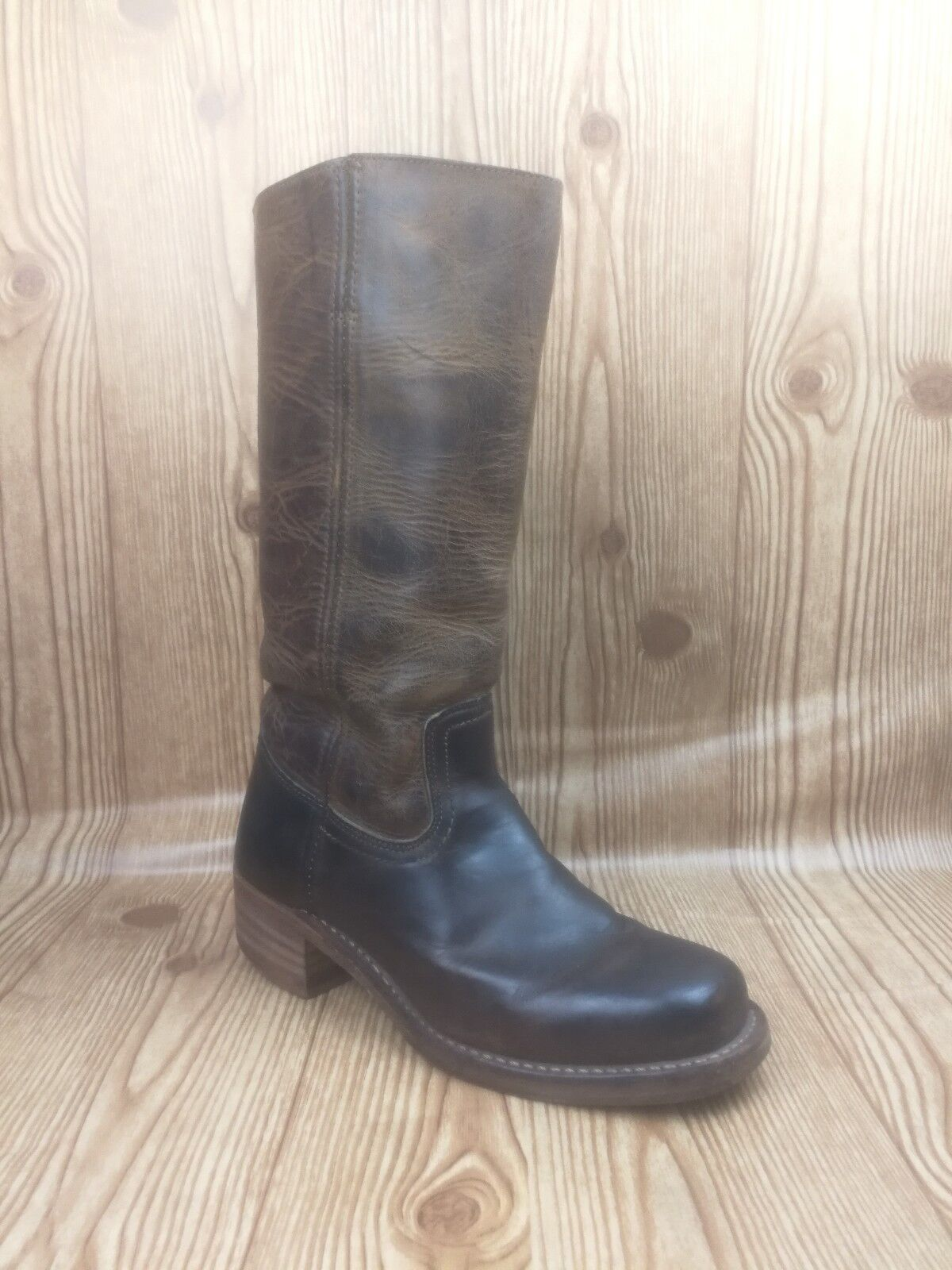 Frye Campus 14L DBN 77050 Women Brown Distressed Leather Riding Boots Size 8.5M