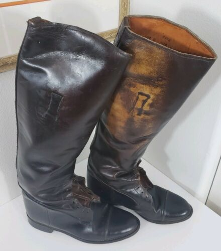 Vintage Equestrian English Burghley Riding Boots