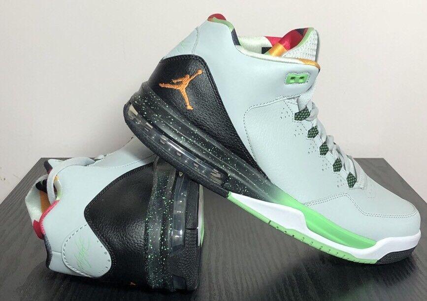 Nike Men's Jordan Flight Origin 2  Gray Mist/Mandarin/Black 705155 015 Sz 10.5