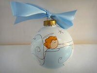 Christmas Ornament Light Of Mine Designs Angel With Trumpet Hand Painted