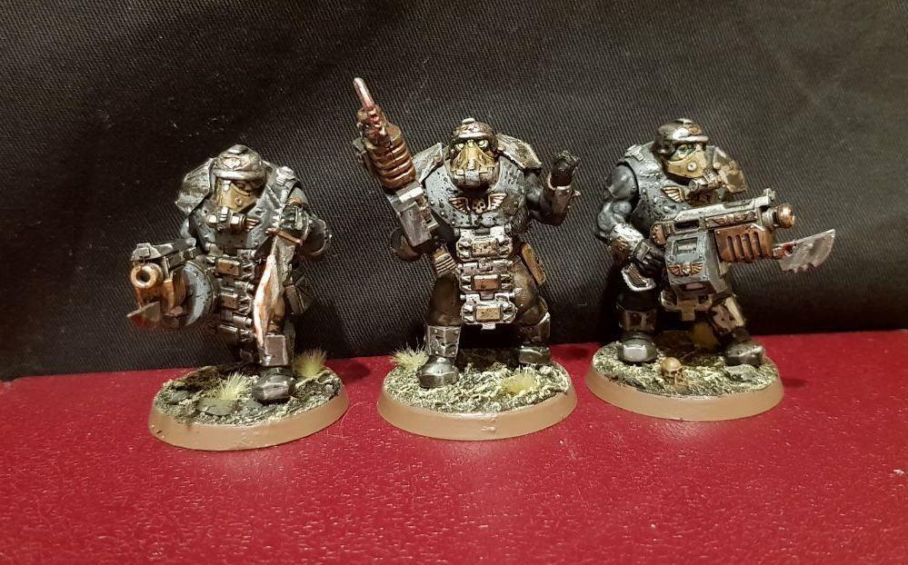 Death Korps de Krieg Krieg Krieg bullgryns Ogryns Pintado paquete de conversión Raro Warhammer 40k  la red entera más baja