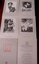 TEATRO DELLA CORTE LAMBRUSCHINI cartella celebrativa n°349 di 1500 -4 disegni