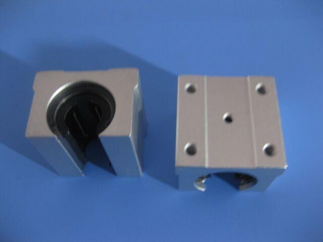 20mm SBR20-500mm LINEAR SLIDE GUIDE SHAFT 2 RAIL+4 SBR20UU Bearing Block CNC set