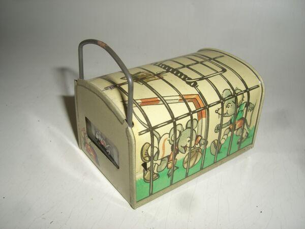 1054 / Trampa Para Ratones Hucha Juguete De Hojalata / Money Caja Um Aprox. 1950