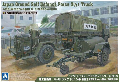 JGSDF 3 1//2 t Truck Wasserwagen /& Küche 1:72 Model Kit Bausatz Aoshima 002353