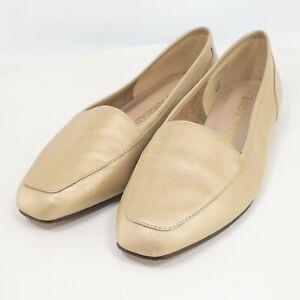 Enzo Angiolini Womens Ivory Leather Slip On Flat Loafers Size US 6.5 M