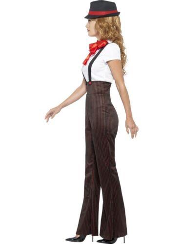 Femmes 20s 1920s glam gangster lady fancy dress costume s-xl par smiffys neuf