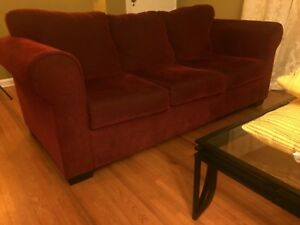 Red Sofa From Wayfair In Good Condition