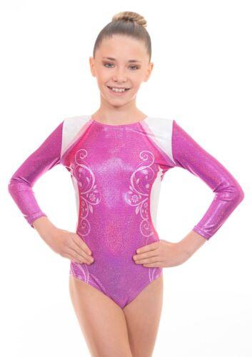 Deluxe Decor Girls Long Sleeved Gym Lycra Show Sleeve Leotard for Gymnastics