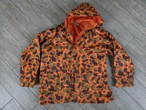 vintage CAMOUFLAGE rain coat PVC jacket LARGE jack