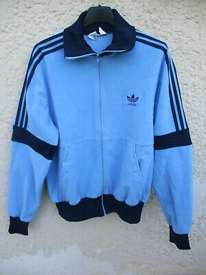 Veste ADIDAS vintage bleu Ventex années 80 felpa jacket jacke TREFOIL 174 M   eBay