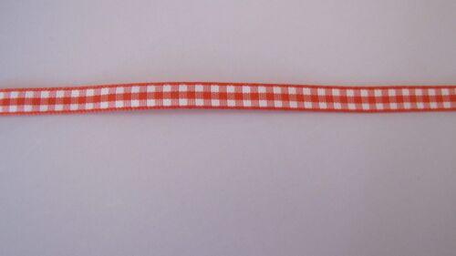 "1//4/"" Buffalo Check Polyester Ribbon Multiple Colors 2 yards"