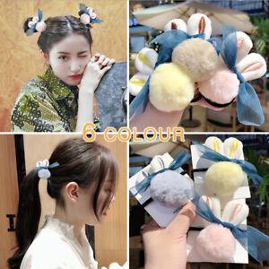 Rabbit-Hairball-Elastic-Hair-Bands-Ponytail-Holder-Scrunchie-Hair-AccessoriesSG