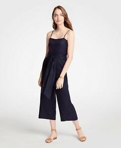 eee199e98e4 NWT Ann Taylor Petite Strappy Tie Waist Jumpsuit in Night Sky Size ...