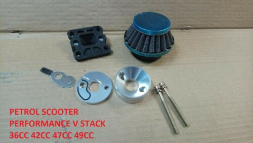 Go Ped Petrol scooter Racing 44mm Air Filter  V Stack G2D G23LH 23cc  49cc dr