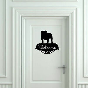 Sticker-Vinilo-English-Bulldog-Welcome-Wall-Art-Decall-Vinyl-Pegatina