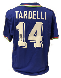 MARCO TARDELLI SIGNED ITALY 1982 WORLD CUP SHIRT SEE PROOF & COA JUVENTUS ITALIA