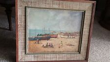 Vintage seascape by Calif. artist Roy M Ropp