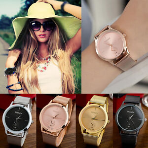 New-Women-Ladies-Bracelet-Stainless-Steel-Unisex-Dial-Analog-Quartz-Wrist-Watch
