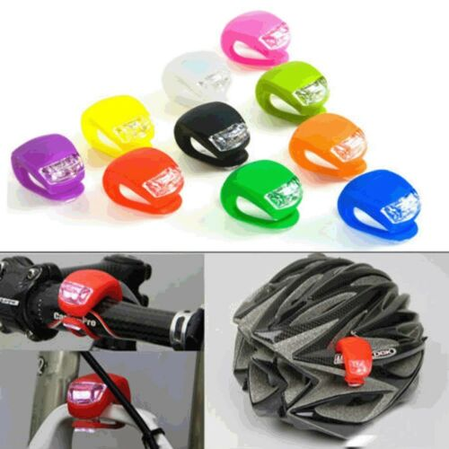 Safety Bicycle Head Front Rear Wheel LED Flash Light Lamp Silicone LOT GW