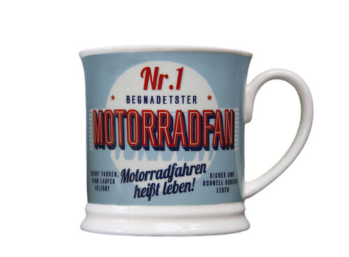 1 MOTORRADFAN Retrobecher Kaffeebecher von GlasXpert Motorrad Becher DER NR