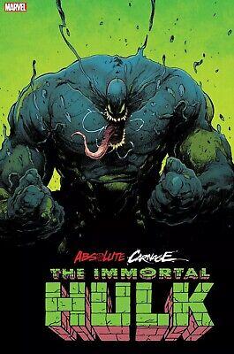 2nd Print Variant Ships 11//6//19 Absolute Carnage Immortal Hulk #1 2019