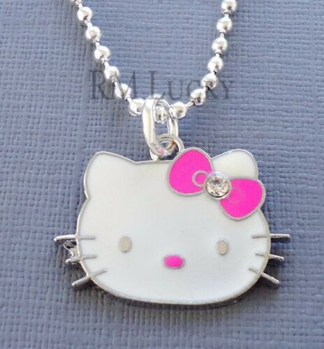 """Pendant Pink Hello Kitty necklace Kids Teen ball chain 18/"""" party gift C14"""
