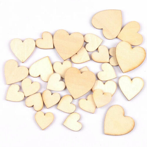 Symbol Symbol Heart Wooden Pieces Ornaments Wood Slices Discs DIY Crafts