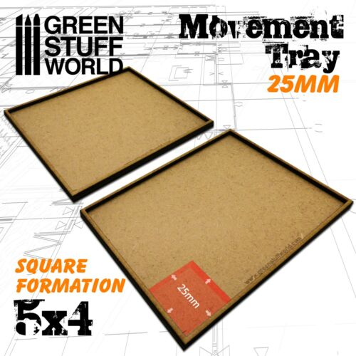 MDF Movement Trays 25mm 5x4 Warhammer Miniatures Scenery GSW